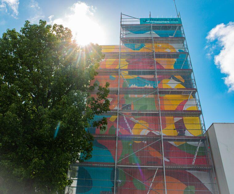 Mural Imaginarius presta homenagem aos Bombeiros da Feira 1